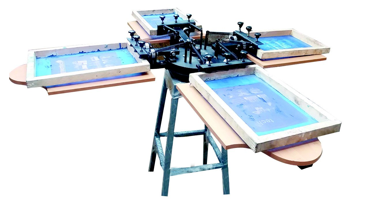 4e16c42a 4 Colour T.shirt Screen Printing Machine in Coimbatore – Green Tech